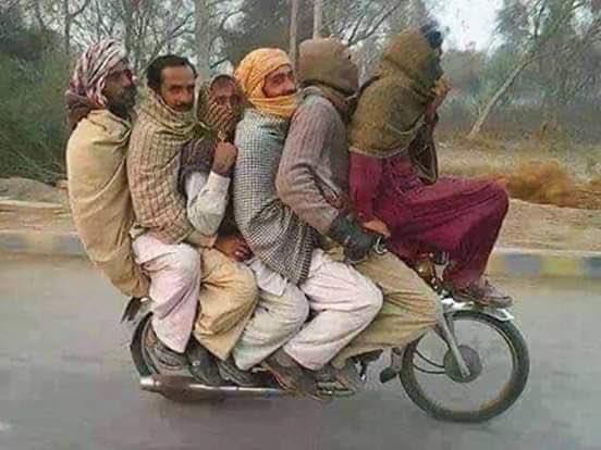 Social distancing and traditions Coronavirus,covid-19,social distancing,lockdown,Pakistan,motorcycle,pillion,ride